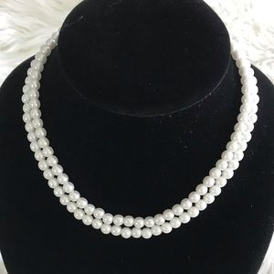 Jewelry - Double Strand Faux Pearl Necklace
